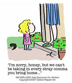 stray commas