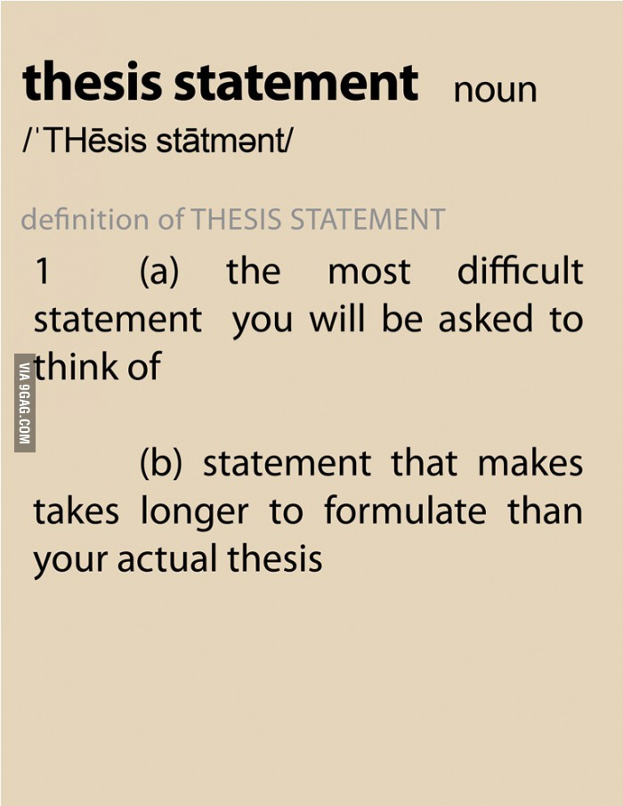 Different thesis types