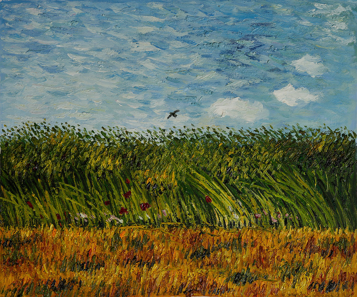 Vincent Van Gogh Painting Wheat Fields