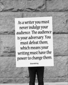 stoneking about audience of writer