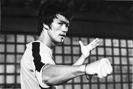 black and white bruce lee