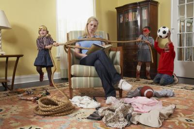 children misbehaving
