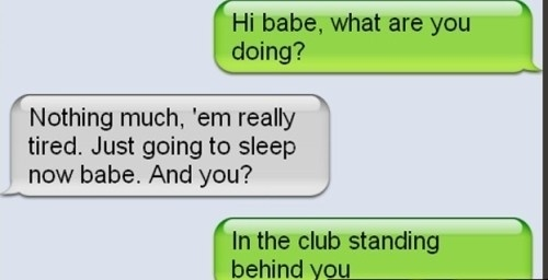 text of girlfriend lying