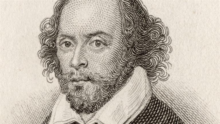 drawing of Shakespeare