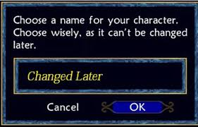 video game character naming