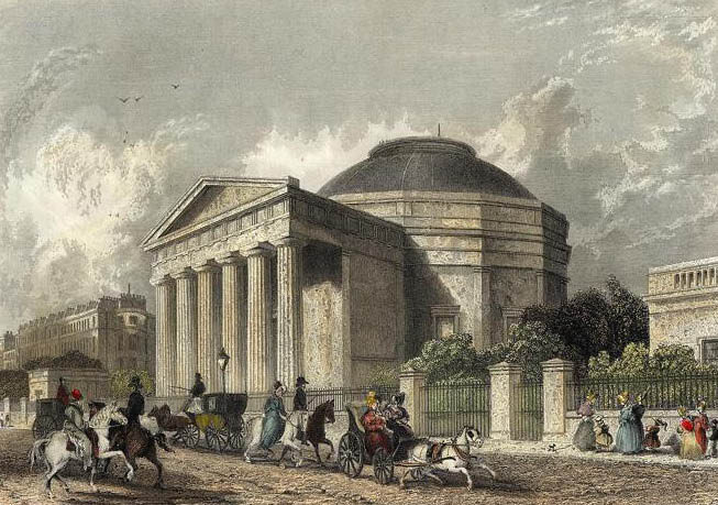 The Coliseum [Sic], Regent's Park London engraved by Cox after a picture by Roberts.