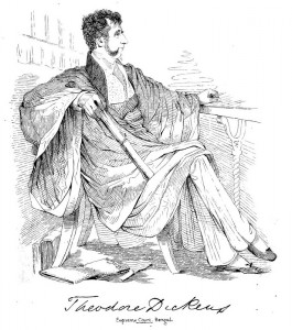 Lithographic print of Theodore Dickens, one of the identified members. From C. Grant's Lithographic Sketches of the Public Characters of Calcutta (ca. 1850).