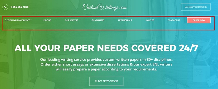 customwritings main page